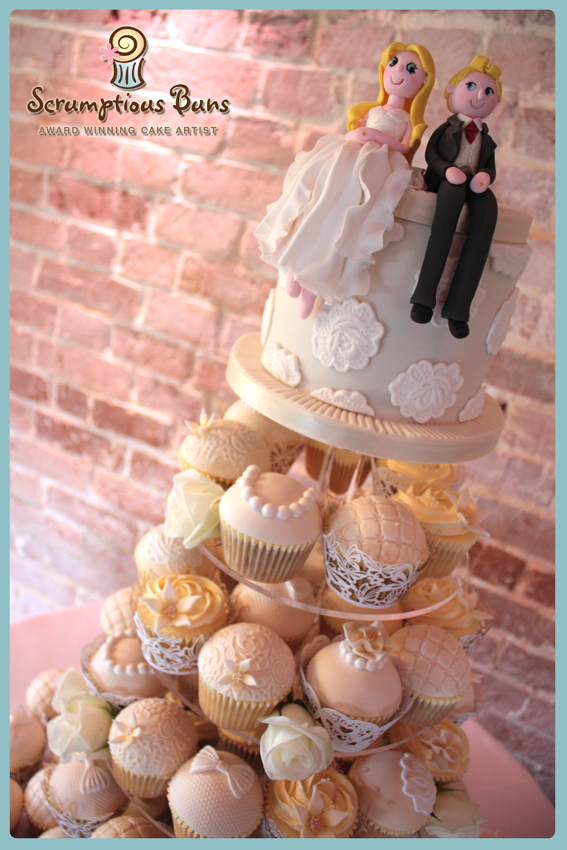 wedding cupcake cake tower norfolk