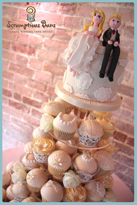 wedding cupcake cake tower norfolk