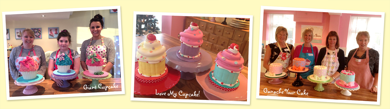 cake decorating classes, norfolk, giant cupcake, ganache, cupcakes, sugar figure classes, tutorials, cake school
