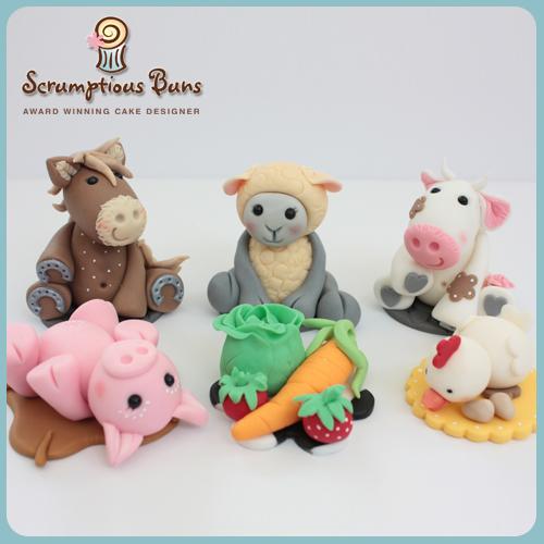 Farm Yard Animals, Novelty Cupcake Class