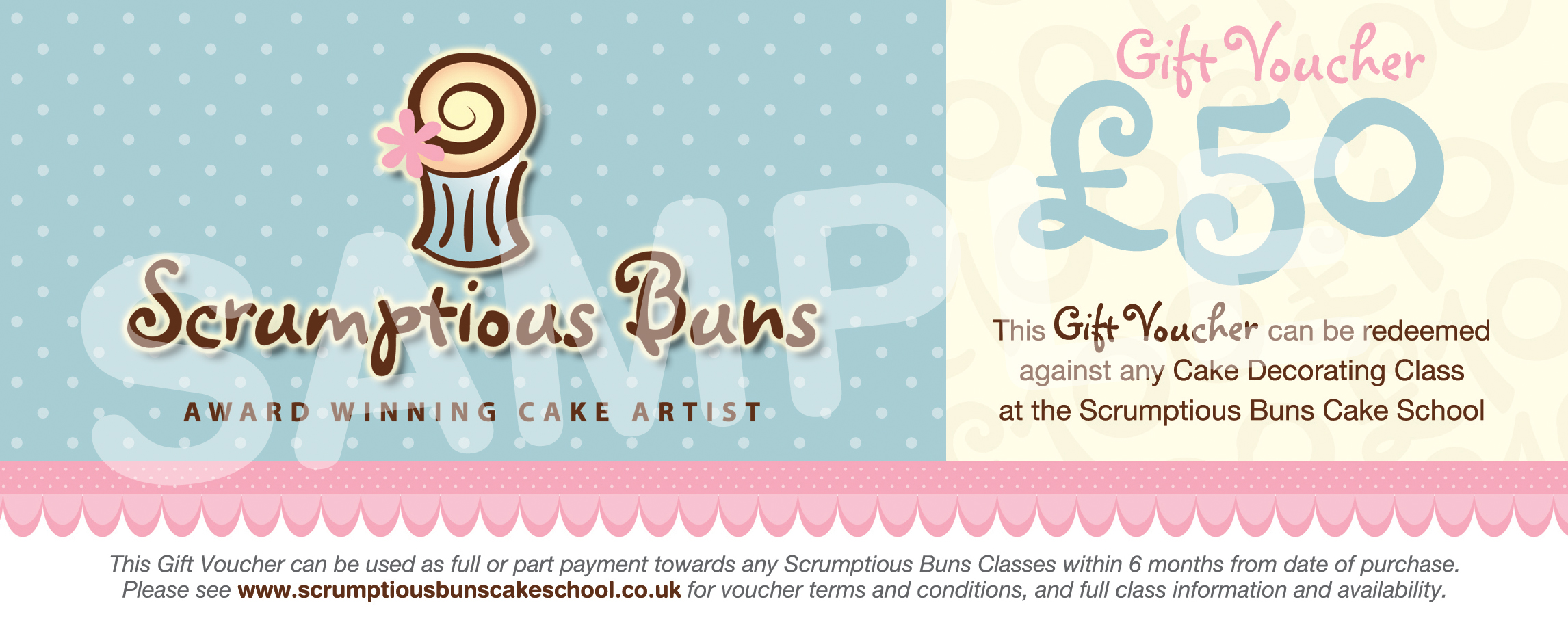 gift voucher cake decorating class