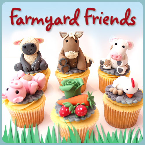 farm animals, sugar modelling, sugar, figures, cupcakes, decorating, class, workshop, cake school, norwich, norfolk