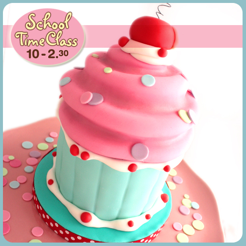 cake, decorating, workshop, class, tutorial, novelty, giant cupcake, norwich, norfolk, cakeschool