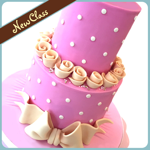 tiered cake, stacked cake, class, cake school, cake decorating, work shop, workshop, tutorial, scrumptious buns