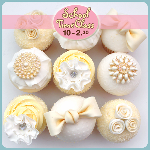 cupcake decorating class, norwich, ruffles, frills, class, brooche, lustre, bows, roses, cake school, scrumptiousbuns, norwich, norfolk, coltishall