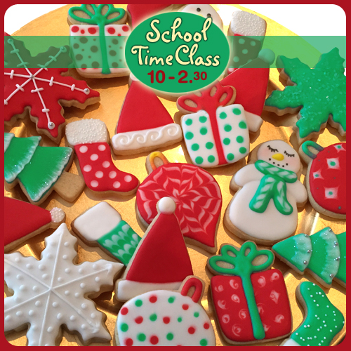 christmas, class, workshop, cookies, iced, royal iced, flood iced, cookies, biscuits, cake school, norwich, norfolk, scrumptious buns